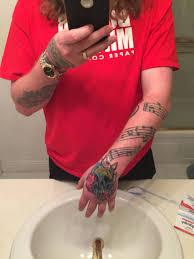 finger tattoo swelling new tattoo excuse my super swollen hand tattoos pinterest tattoo