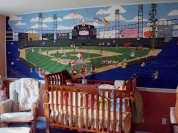 sports murals for bedrooms baseball stadium wall decals hockey for cars bedroom sports