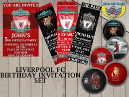 Personalized Birthday Invitation Cards Get All Designs Liverpool Fc Set Birthday Invitation Digital