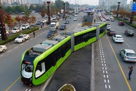 u0027trackless train u0027 runs virtual lines launched