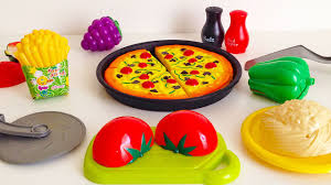 Kitchens For Kids by Toy Cutting Pizza Kitchen Playset Cooking Toy For Children Youtube
