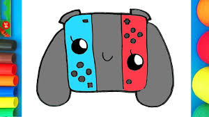 how to draw and color a nintendo switch easy fun coloring page