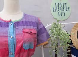 skippy do dah day vintage 1980s rainbow gradient colors button