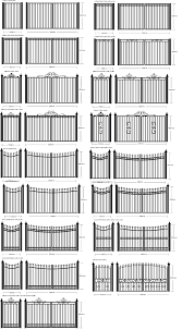 corrugated metal fence ideas with nice steel decking in white and