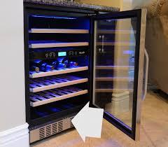 Wine Cabinet Furniture Refrigerator Eurocave Performance Built In Wine Cellar Enthusiast Cabinetoler