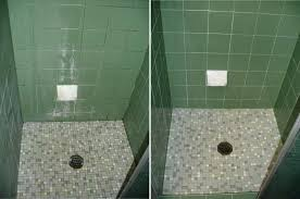 Regrout Bathroom Shower Tile How To Regrout Shower Leaking Shower Resealed Using The Epoxy