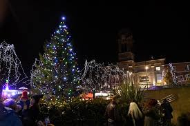 it u0027s officially christmas in derby as the lights are switched on