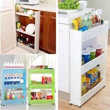 kitchen storage cupboard on wheels slim slide out kitchen trolley rack holder storage shelf
