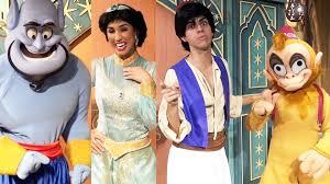 genie princess jasmine aladdin and abu meet at mickey u0027s not so