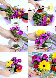 how to make flower arrangements how to make a pretty floral arrangement in a bowl my poppet living