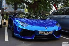 chrome blue lamborghini aventador chrome blue aventador