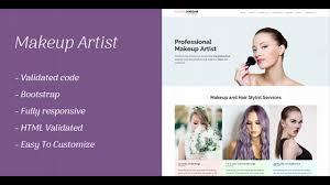 Website For Makeup Artist Makeup Artist Websites Templates 10 Best Makeup Artists Website