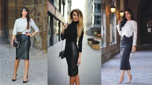 pencil skirt dazzling leather pencil skirt for work
