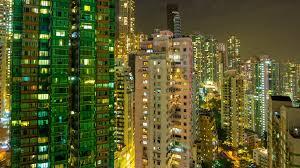 hong kong city nights hd wallpapers hong kong city night light apartment buildings rooftop panorama 4k