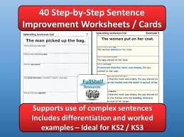 improving sentences by fullshelf teaching resources tes