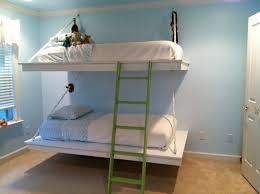hanging loft bed hanging bunk beds free plans at ana white kids