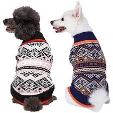 blueberry pet season nordic fair isle snowflake