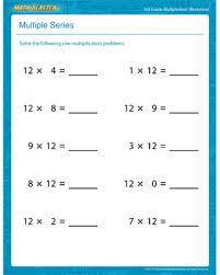 multiple series u2013 free printable multiplication worksheet for 3rd