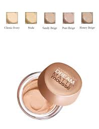 maybelline dream matte mousse classic ivory light 2 maybelline dream matte mousse 5 shades habbana
