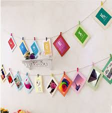 photo hanging clips beatiful diy cardboard photo frame with wood clips rope retrato