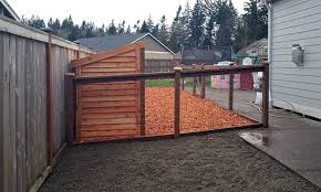 east olympia kennel with cedar chips ajb landscaping u0026 fence