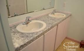 faux granite countertop master bathroom hometalk