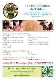 fiche cuisine fiche atelier chemin de table 2015 bienvenue au baobab café des