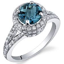 silver rings london images London blue topaz halo ring sterling silver rhodium jpg