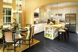 Paint Colours For Kitchens With White Cabinets Contemporary Yellow And White Painted Kitchen Cabinets Design In