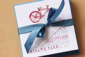 vintage bicycle birthday party invitations