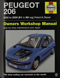peugeot 206 petrol u0026 diesel 02 09 haynes repair manual amazon