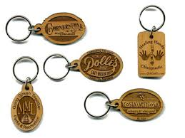 wooden keychains corporate gift in ahmedabad engraved laser engraving