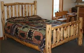 juniper log beds u2014 barn wood furniture rustic barnwood and log