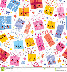 gifts wrapping paper seamless pattern stock vector image