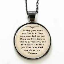 necklaces with your name 10pcs lot thoreau necklace writing your name can lead to writing
