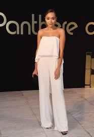 heritage jumpsuit madekwe glowed in the strapless flowy crepe jumpsuit by