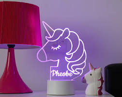 Childrens Lights For Bedrooms Unicorn Light Etsy