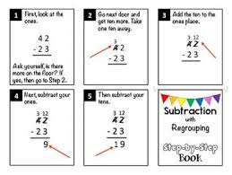 51 best subtraction with regrouping images on pinterest second
