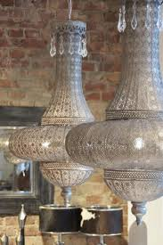 Morrocan Chandelier Moroccan Hanging Lamp Collection Silver Finish Vivaterra
