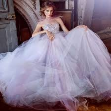 robe de mariã e tulle gown wedding dresses with luxury beading tulle lilac