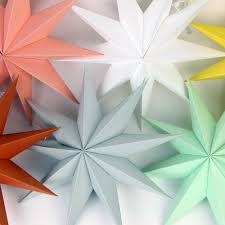 paper craft for home decoration home decor 1pcs 30cm 6 u0027 u0027 nine angles paper star decoration