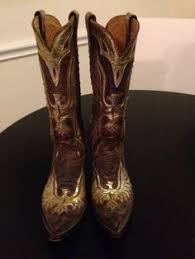 ebay womens cowboy boots size 9 larry mahan s cowboy boots hair on cowhide size 9 ebay