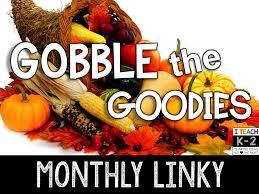 thanksgiving gobble m u0026m bilingual gobble the goodies fall linky