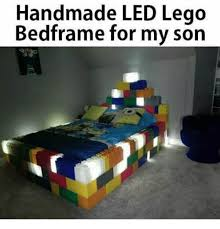 Lego Bed Frame Handmade Led Lego Bedframe For My Meme On Me Me
