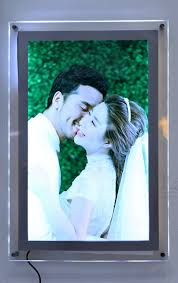 light boxes for photography display clear perspex led photo frame acrylic wall mount poster picture