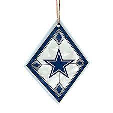 nfl dallas cowboys glass ornament sports fan