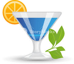 blue martini clip art tropical blue cocktail icon royalty free stock image storyblocks