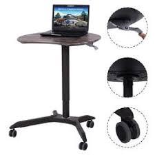 Movable Computer Desk Rolling Mobile Computer Desk Table Cart