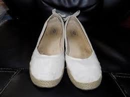 ugg womens indah shoes white ugg australia indah white canvas flats shoes back bow detail size