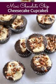mini chocolate chip cheesecake cupcakes